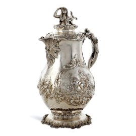 Large silver jug London, 1859 weight 1567 gr.