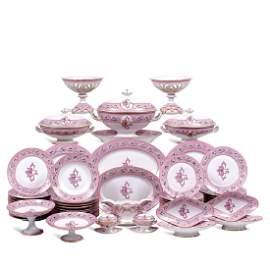 Ginori porcelain plate service (88) Italy,
