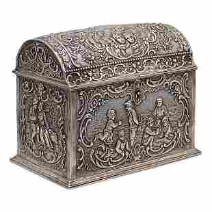 Silver box Germany, 19th century weight 536 gr.