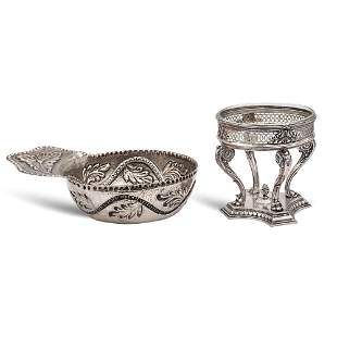 Two silver objects Germany 20th century tot weight