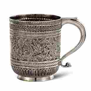 Silver mug London regina Vittoria 1891 weight 164 gr
