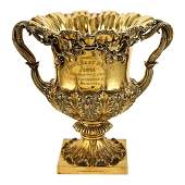 Two handles vermeil silver cup London, William IV, 1830