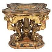 Important gilt wood centre table