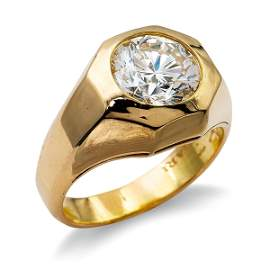 Bulgari, 18kt gold ring with a 2,60 ct diamond