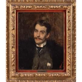 Antonio Mancini Roma 1852 - 1930 62x50 cm.