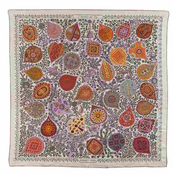 Hermès, L'Arbre de Vie collection shawl 140x140