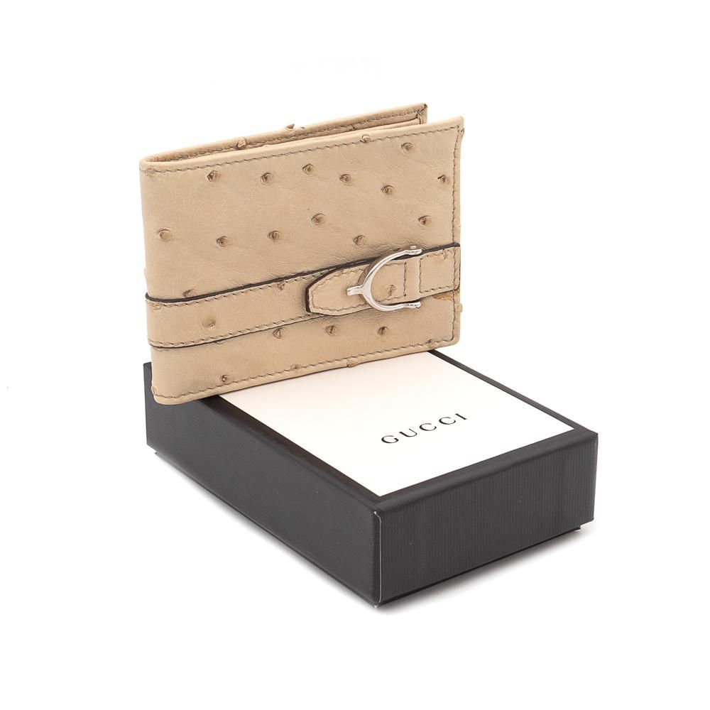 Gucci, vintage wallet Stirrup collection dimension