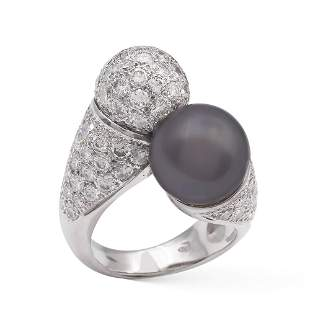 18kt white gold contrarie ring weight 199 gr