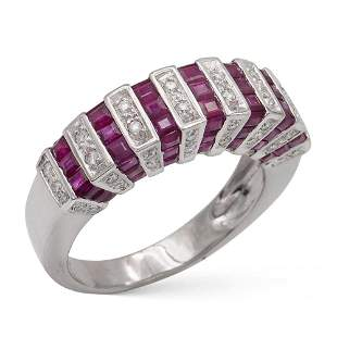 Platinum diamond and rubies rivi232re ring weight