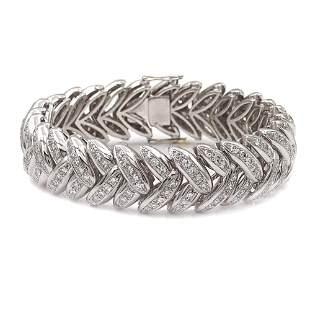 18kt white gold and diamond bracelet weight 80 gr