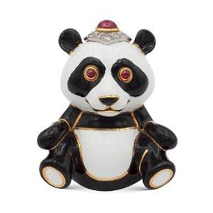 "David Webb, 18kt yellow gold and platinum ""Panda"""