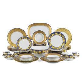 Lalique, Limoges manufacture, porcelain table service