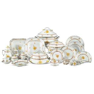 Herend porcelain table set (162) for Candida Tupini,