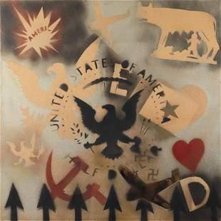 Franco Angeli Roma 1935 - 1988 100x100 cm.