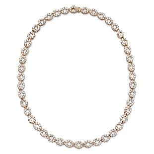 18kt rose gold and diamond collier weight 48,4 gr.