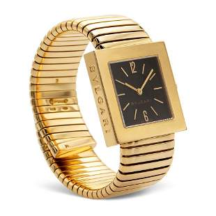 Bulgari Tubogas collection, wrist watch 1990s circa