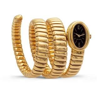 Bulgari Tubogas collection, snake watch bracelet 2000s
