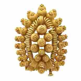 Bulgari, rare ethnic brooch 1970/80s weight 39 gr.