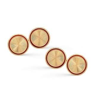 Bulgari, round cufflings 1950/60s weight 14,5 gr.
