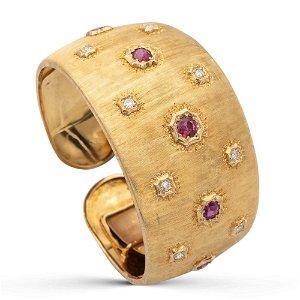 Mario Buccellati, Cuff bracelet 1960s circa weight 61