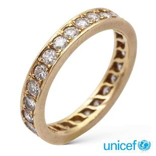 18kt yellow gold and diamond ring weight 4,4 gr.