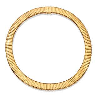 18ky yellow gold tubogas collier weight 68 gr.