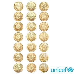 21 Gold Half Marenghi France weight 67,3 gr.