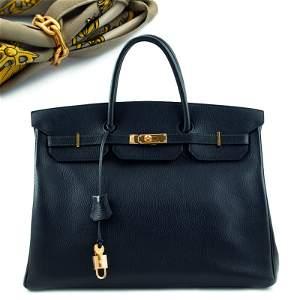 Hermès Birkin 40, hand bag 2000s 28x40x20 cm.