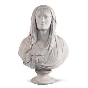 Gesso sculpture Italy, 19th century 73x50x25 cm.