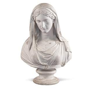 Gesso sculpture Italy, 19th century 66x43x25 cm.