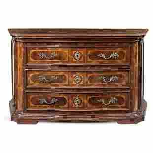chest of drawers veneered in walnut
