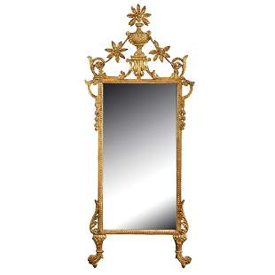 A carved giltwood mirror Italy, 19th century