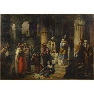 Lombard painter Italy, mid 19th century 235x335 cm.