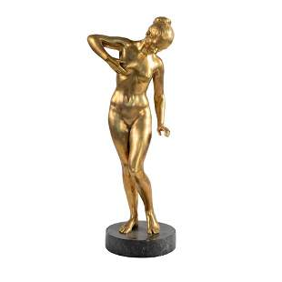 Gilt bronze sculpture Italy, early 20th century 54x16