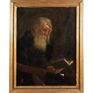 Italian painter 19th-20th century 90x67 cm.