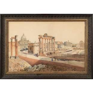 Federico Schianchiv Roma 1858-1919 34x52 cm.