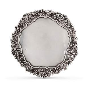Silver salver Italy, 20th century weight 655 gr.