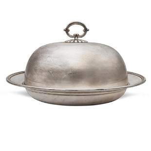 Silver vegetable dish Italy, 20th century weight 1519