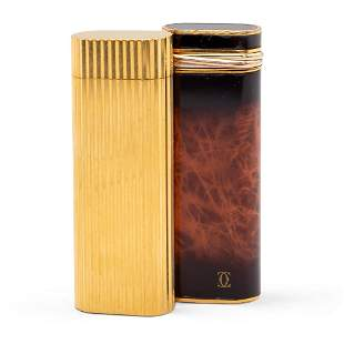 Cartier, two lighters France, 20th century h. 7 cm