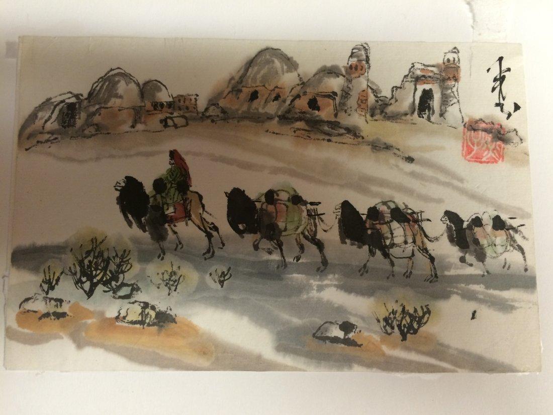 Traveler of the Desert Painting