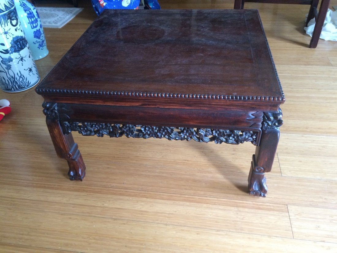 Square Rosewood Table