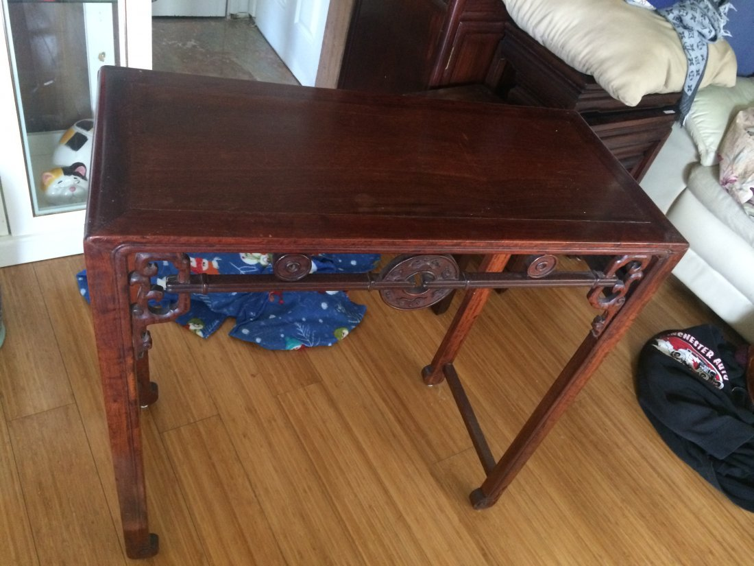 Rectangle  Rosewood Table Stand