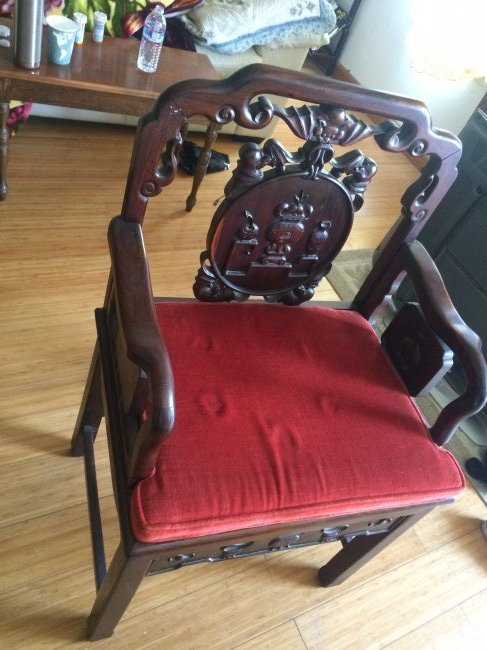 Hand Carved Rosewood Chair