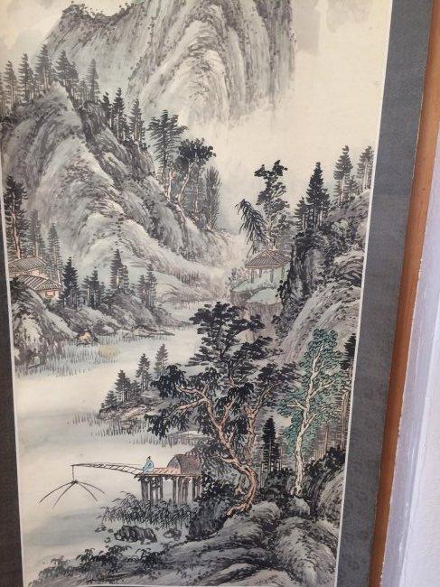 Chinese Mountain Range Mural Scroll - 2