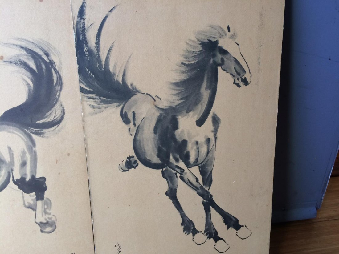 Ink Colored Horse Painting - 2