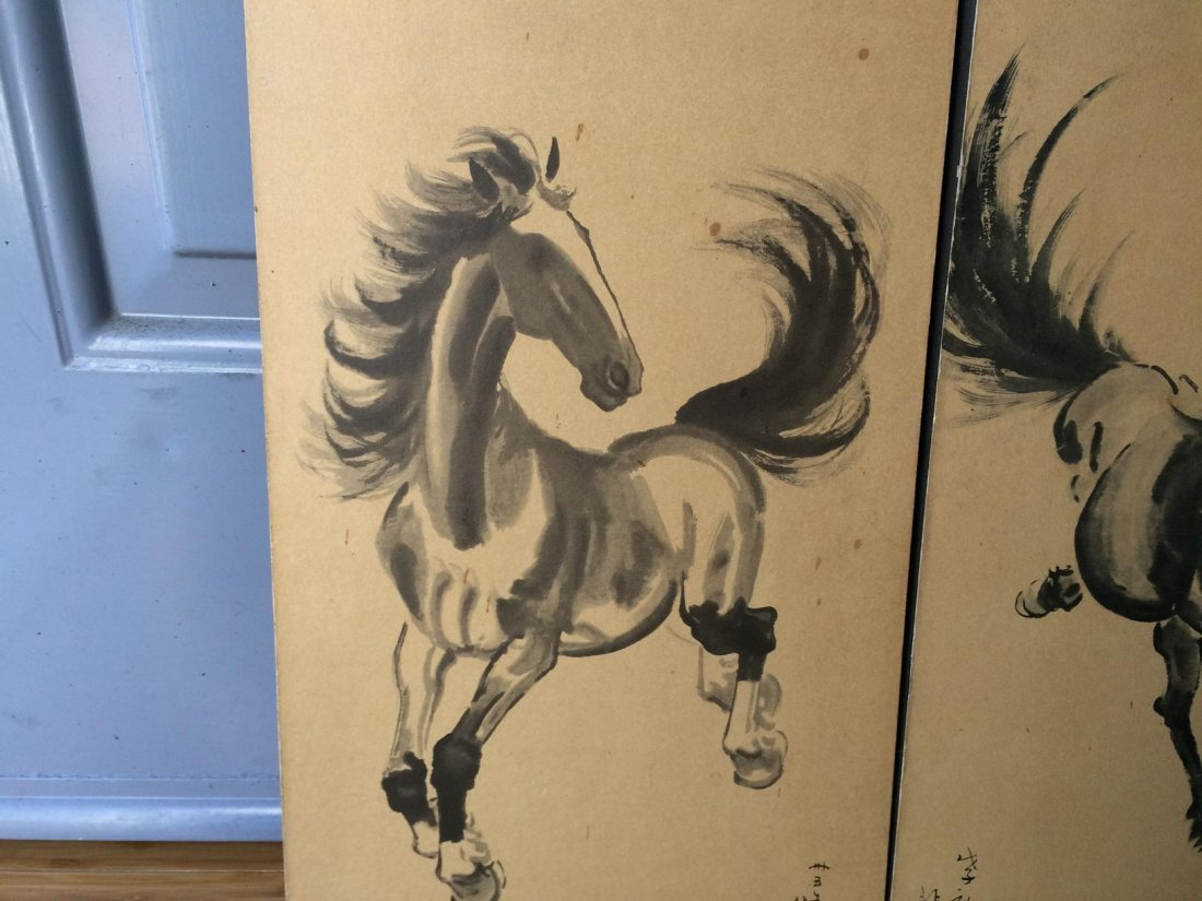 Ink Colored Horse Painting - 3
