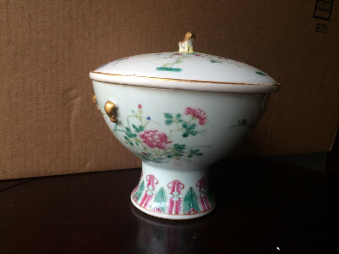 Stem Porcelain Bowl With Cover