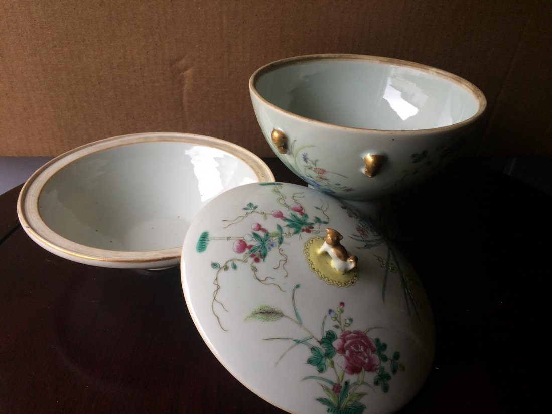 Stem Porcelain Bowl With Cover - 6