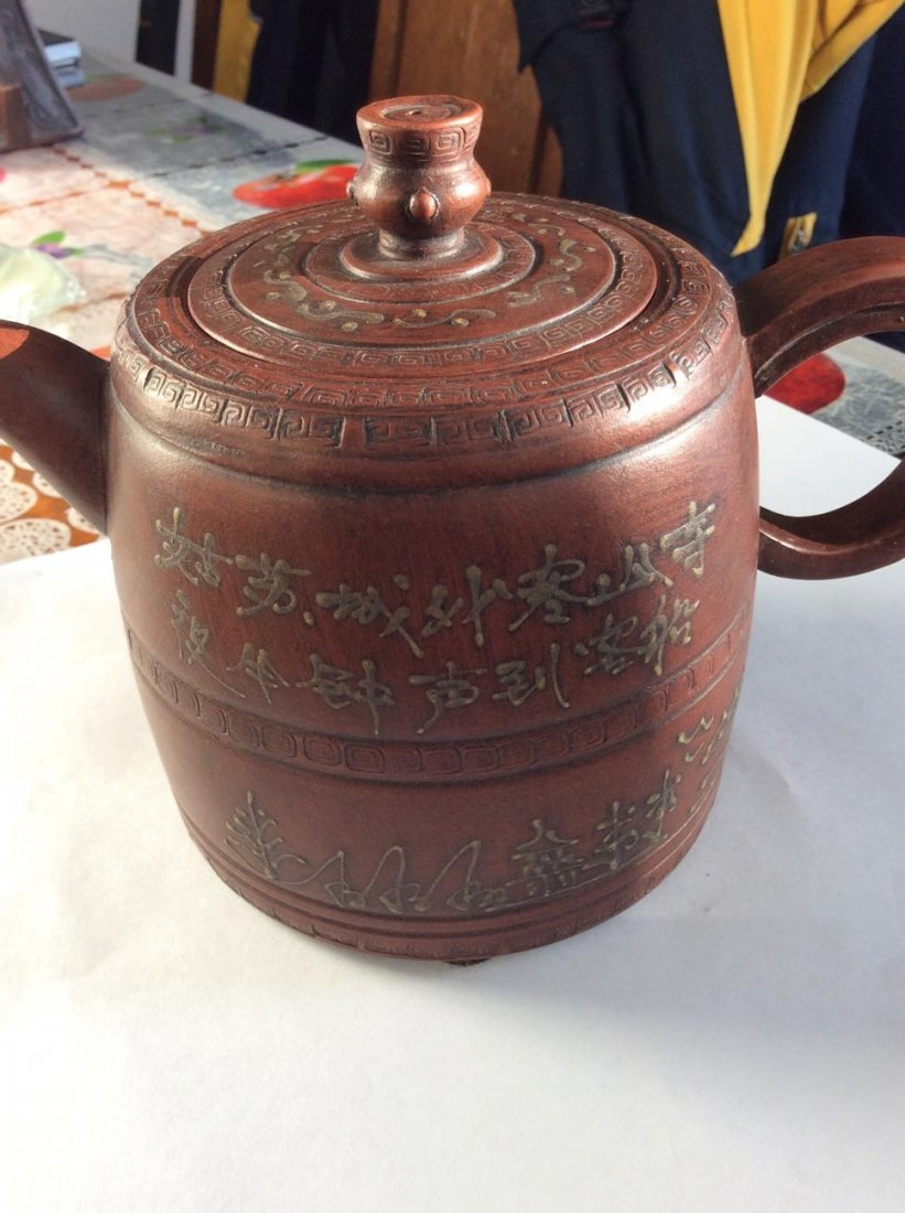 Hand Made Artiest Clay Tea pot With # 2 - 3