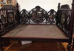 antique rosewood bed